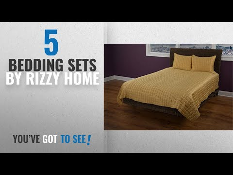 Top 10 Rizzy Home Bedding Sets [2018]: Rizzy Home QLTBT1825GL001692 Quilt, Gold, King
