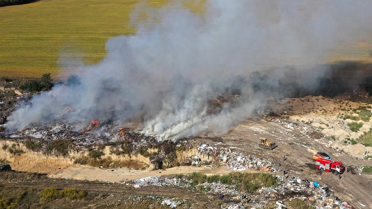 Пожежа на сміттєзвалищі 🔥
