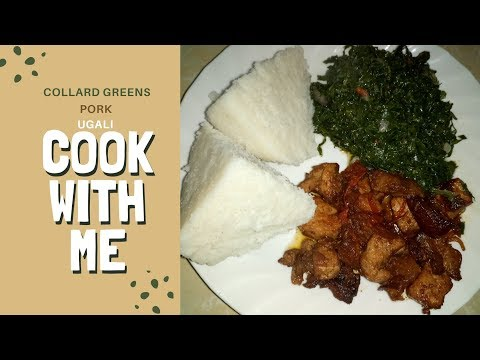 PREPARE COLLARD GREENS WITH ME||CLEANING,CUTTING AND COOKING||FULL MEAL IDEA||COOK WITH ME WEDNESDAY