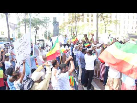 Ethiopian protest march in Seattle