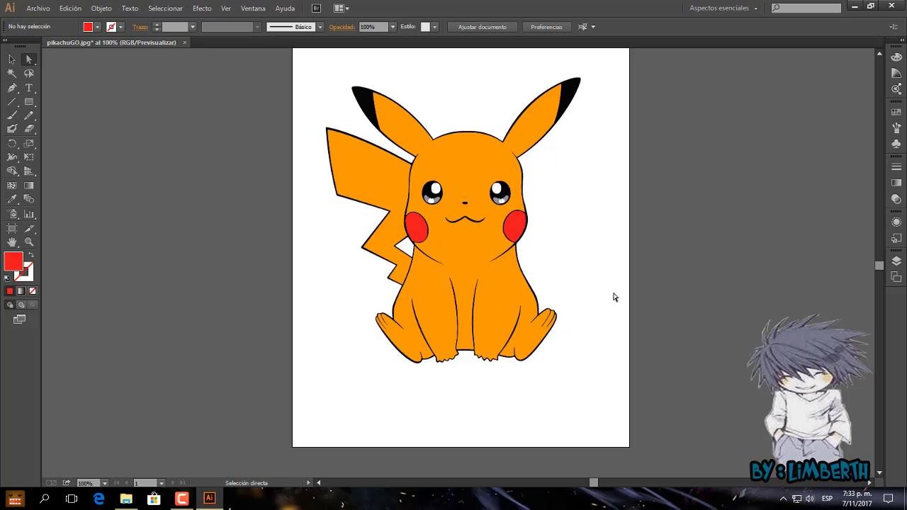 Convertir a vectores y colorear en Adobe illustrator (ilustreitor
