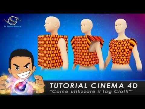 """Cinema 4d tutorial """"come utilizzare il tag Cloth"""""""