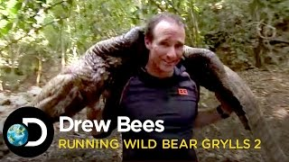 Drew Brees Kills A Crocodile |  Running Wild With Bear Grylls