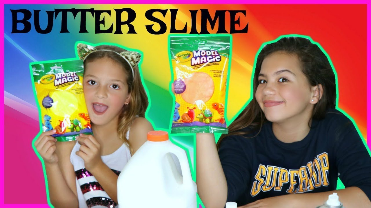 how to make butter slime with clay