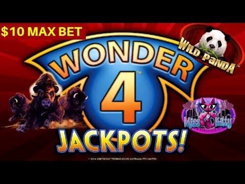 WONDER 4 Slot Machine Max Bet Bonuses Won  | Season 8 | Episode #18