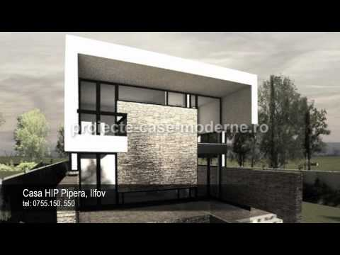 Proiecte case moderne | Model casa HIP Pipera - YouTube