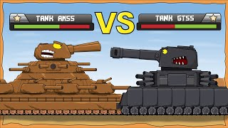 American Monster vs GT55 - Cartoons about tanks