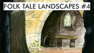 Folk Tale Landscapes #4   Church Ruins