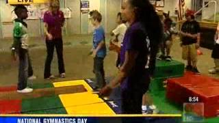 National Gymnastics Day - South Bay YMCA (KFMB TV 9/27/13 6:00am)
