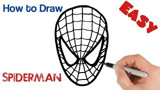 How to Draw a Spiderman Mask Easy Drawing Art Tutorial