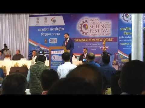 Shri Abdul Latin Roshan honourable minister for high education  Afghanistan IISF -2017  13/10/17