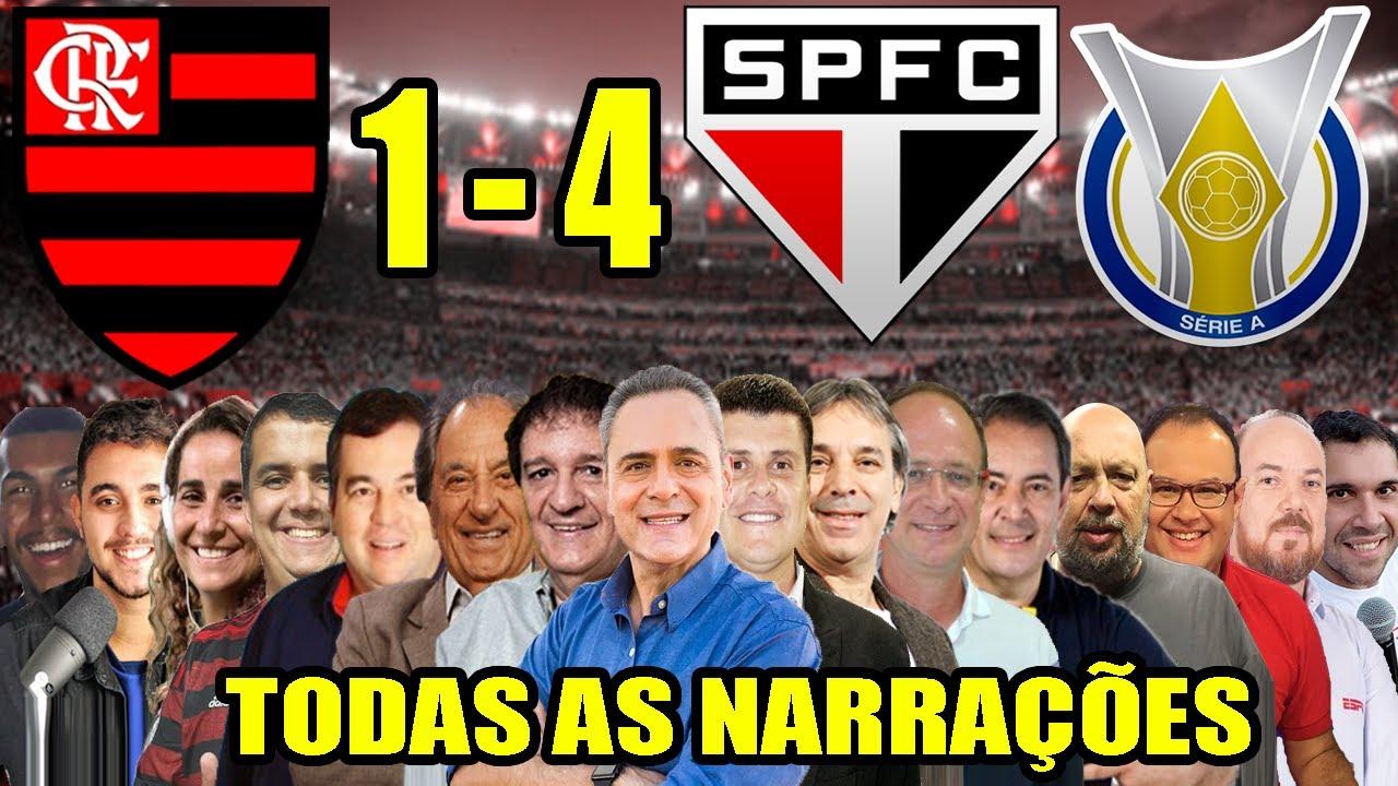 Todas as narrações - Flamengo 1 x 4 São Paulo   Campeonato ...