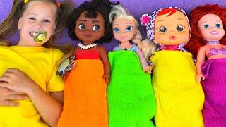 Ten in the Bed Song nursery rhymes with Eva Songs