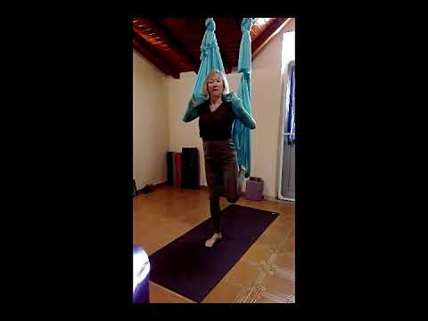 flip into savasana  short stack aerial yoga series for