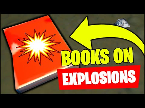 Search for Books on Explosions Locations (Fortnite)