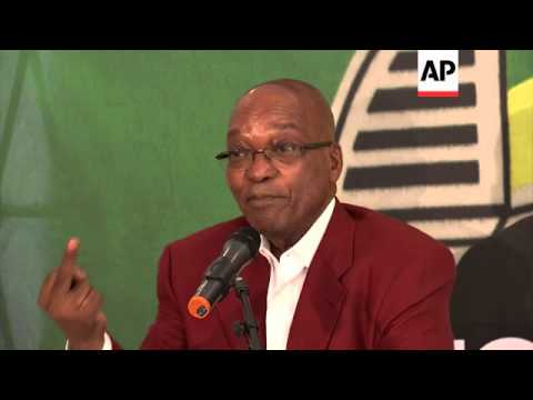 South African President Jacob Zuma comments on corruption