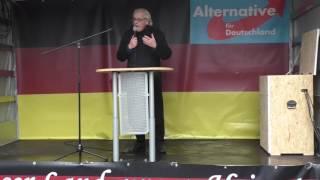 AfD-Demo Bielefeld: Martin E. Renner & das Deutschlandlied (05.11.2016)