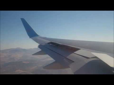 Thomson airways Boeing 757-200 full flight Glasgow to malaga