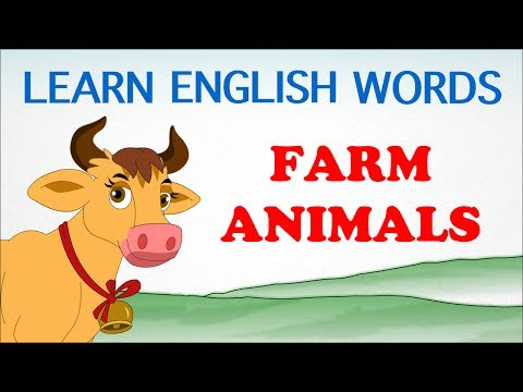 Farm Animals - Pre School - Learn English Words (Spelling) Video For Kids and Toddlers