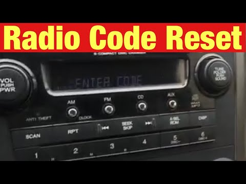 How to Find and Reset the Radio Code on a 2007 Honda CR-V