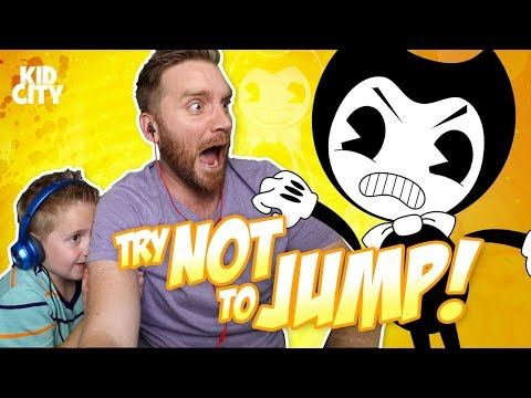 Thumbnail: Try Not to Jump Challenge with Bendy and the Ink Machine, Fidget Spinner & Evil Mickey Mouse!