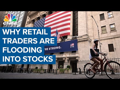 Retail traders flood into stocks—Why most say they're diving in