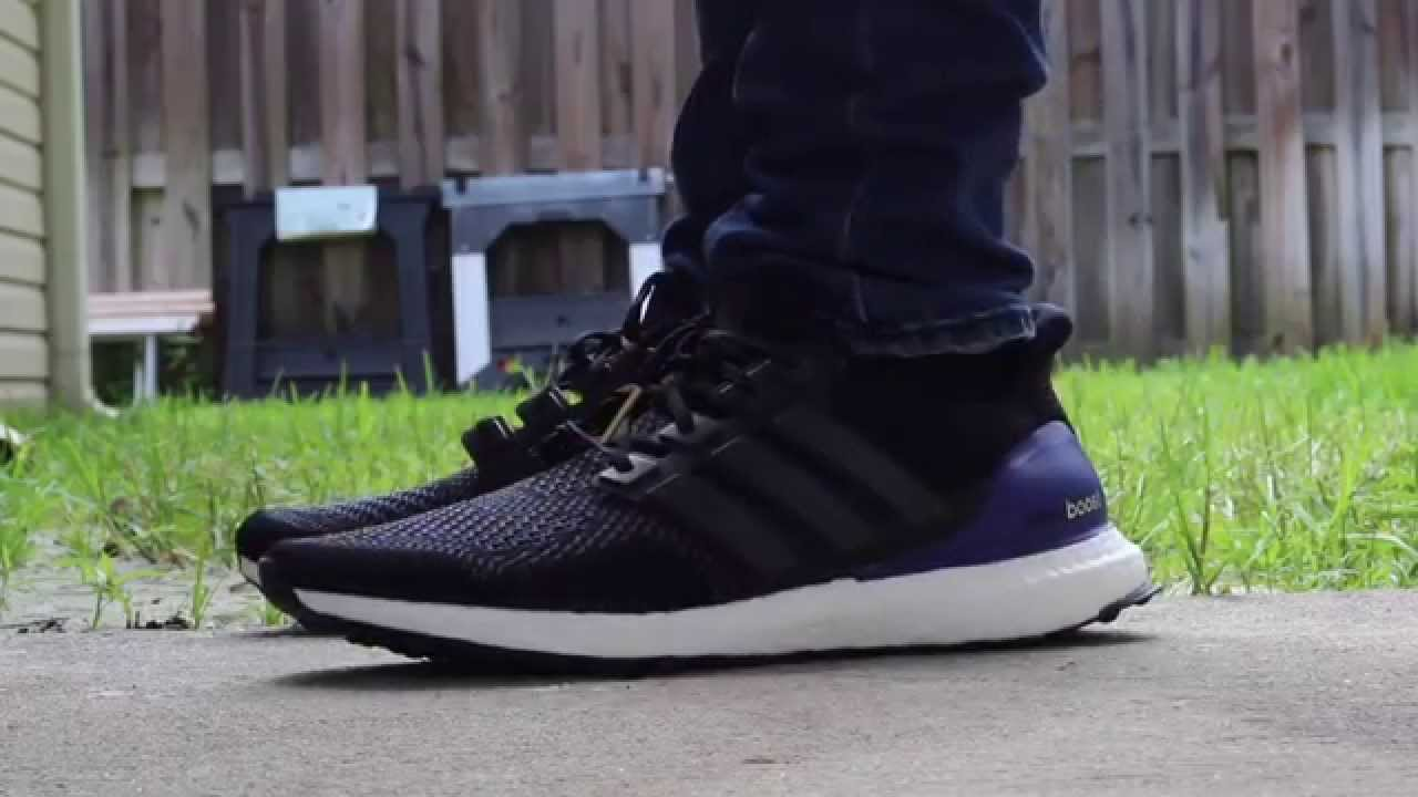 Adidas Ultra Boost Black On Foot