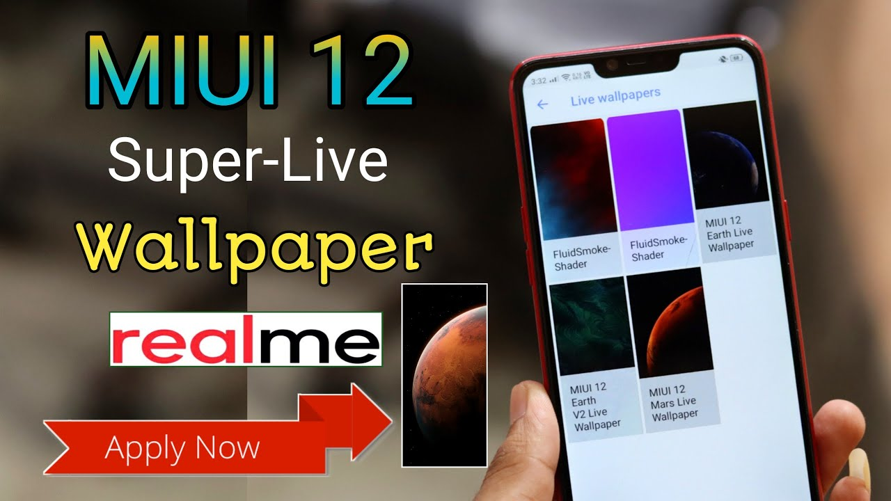 Miui 12 Super Live Wallpaper For All Realme Devices No Root Miui 12 Earth Mars Wallpaper Download Youtube
