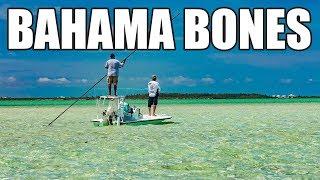 Bonefish Fly Fishing Schooling Bones in Chub Cay Bahamas