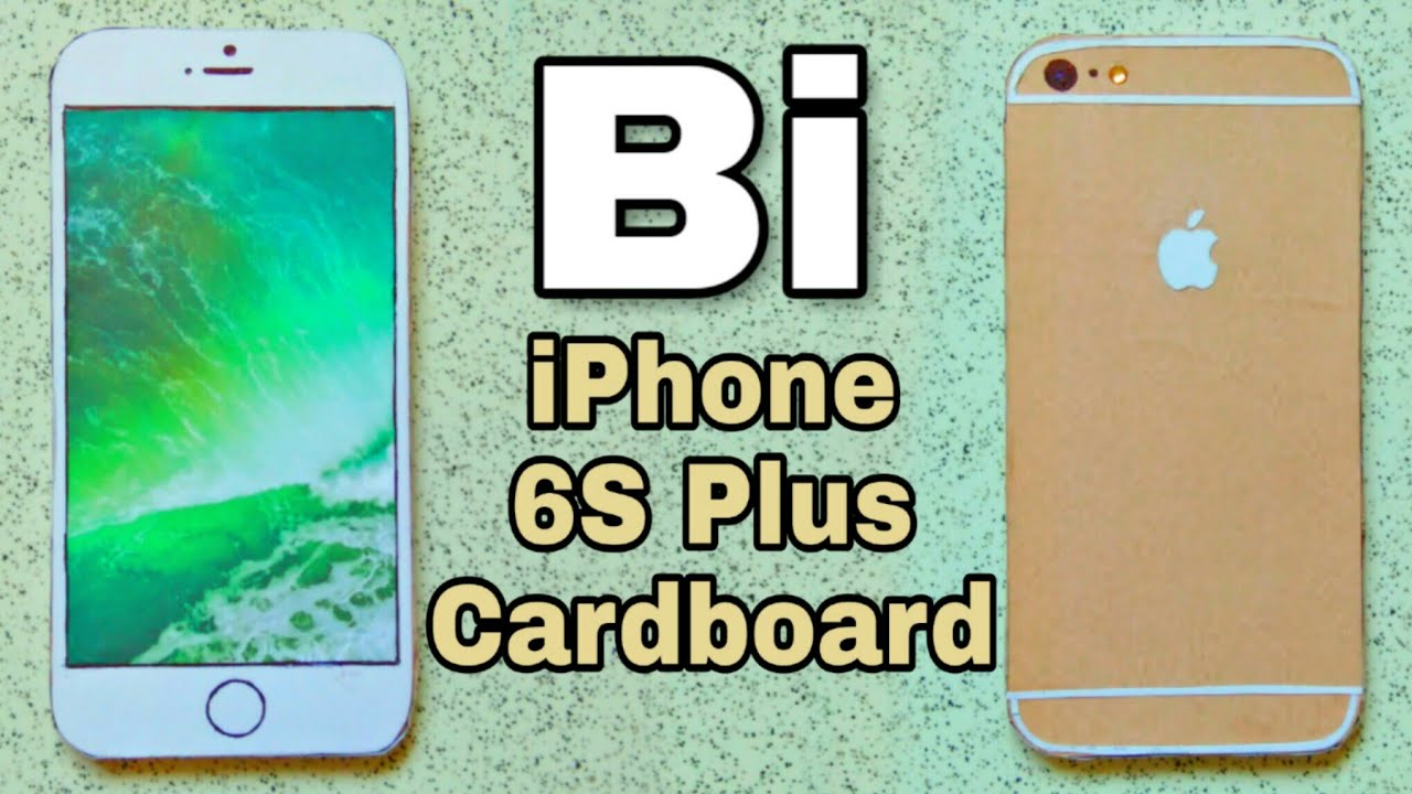 check out 1c99f e6dd5 iPhone 6S Plus (Gold) paper   in Cardboard   How to Make   easy   Bi