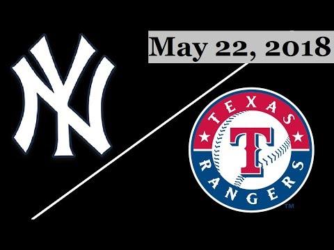 New York Yankees vs Texas Rangers Highlights    May 22, 2018