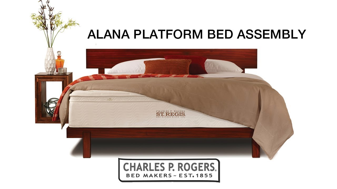 Alana Platform Bed Assembly Charles P Rogers Beds Youtube