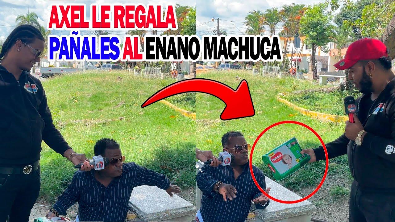AXEL BUENISIMO LE REGALA PAÑALES AL ENANO MACHUCA