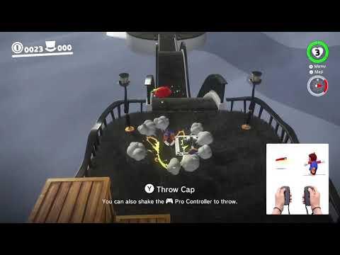 Cap Kingdom Frog Skip In Super Mario Odyssey