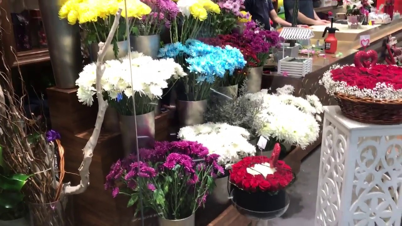 Beautiful Flower Shop At Dubai Festival City Mall Youtube