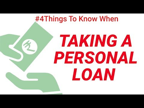 What to Know When Taking a Personal Loan