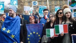 Британцы вышли с протестом в поддержку мигрантов из ЕС (новости)