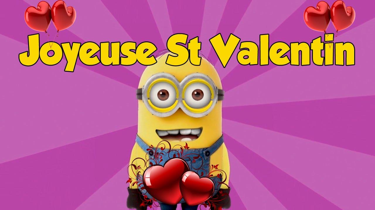Joyeuse Saint Valentin De La Part D Un Minion Youtube