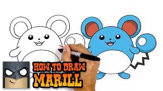 How to Draw Marill | Pokemon| Awesome Step-by-Step Tutorial