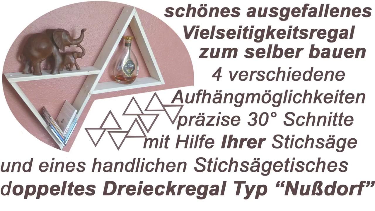 Regal Aus Holz Dreieckig Selber Bauen Mit Anleitung Fur Stichsagen