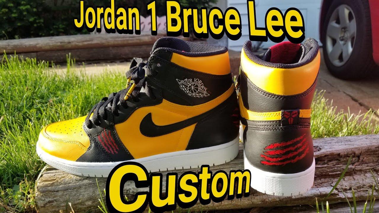 Jordan 1 Bruce Lee custom these are