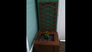 Build Your Own Garden Planter With A Tresil Back Out Of Pallets