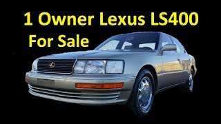 LEXUS LS400 LUXURY SEDAN ~ 1 OWNER LOW MILE CLASSIC FOR SALE