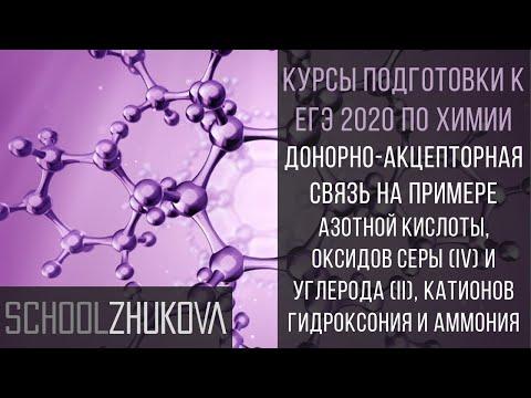 ЕГЭ 2020 Химия. Донорно-акцепторная связь: HNO3, SO2, CO, H3O+,NH4+