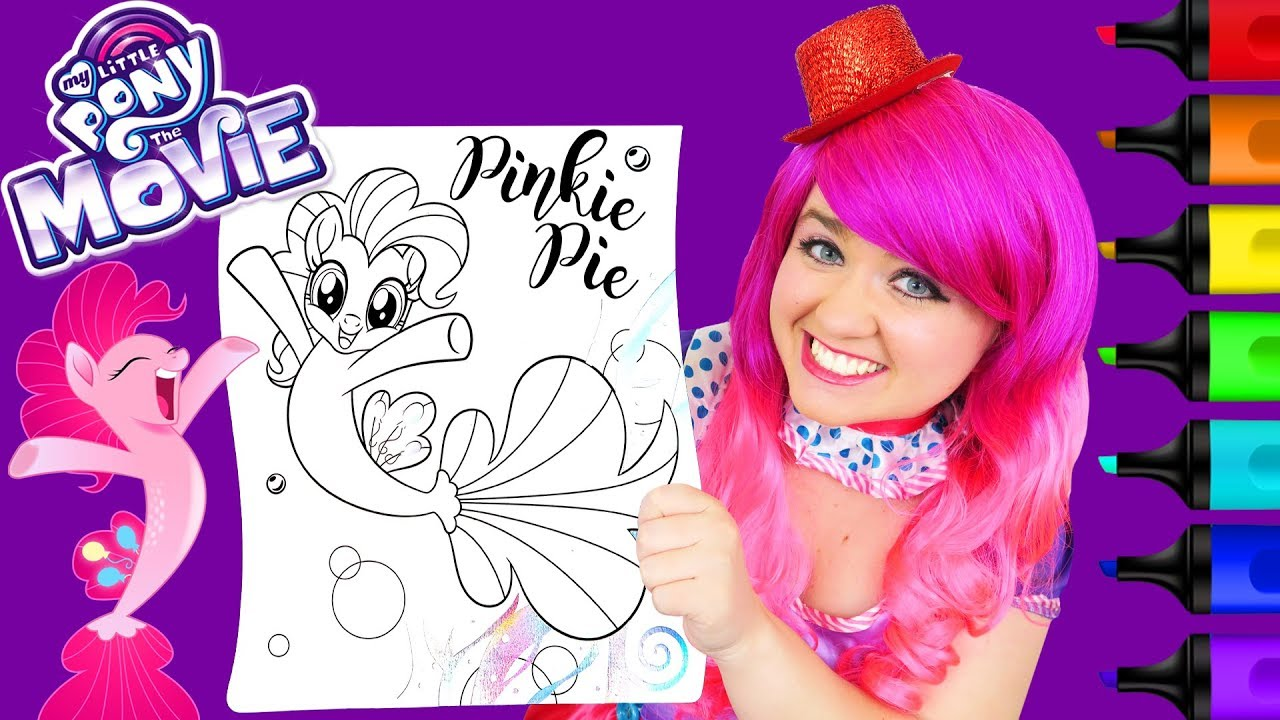 Coloring Pinkie Pie My Little Pony: The Movie Coloring Page ...
