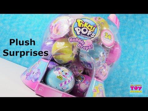 Pikmi Pops Surprise Bubble Drops Plush Squishy Blind Bag Toy Review Unboxing | PSToyReviews