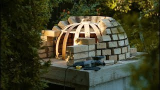 How to Build A Wood Pompeian pizza oven. Masonry furnace.