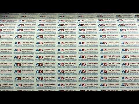 Hướng dẫn in tem bảo hành chất liệu decal vỡ bế demi bằng máy cắt mimaki
