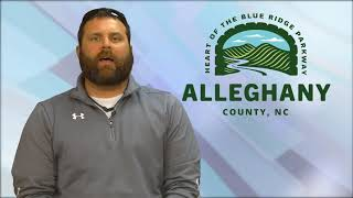 Report from Alleghany County, NC Recreation Director, Jim Brown