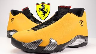 AIR JORDAN 14 YELLOW FERRARI (REVERSE FERRARI) REVIEW